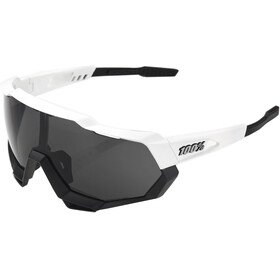 100% Speedtrap Smoke Glasses matte white/black